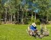 Casa Camila Vacation Rentals Aspen Colorado house yard fishing chair